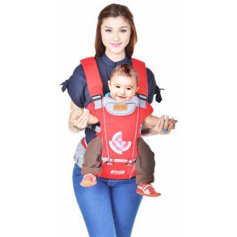 Dialogue Gendongan Bayi Hipseat Plain Color DGG 1008 Red Grey