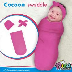 Dita Baby Collection - Bedong Instan Topi + Bandana - Bedong Untuk Bayi Lucu