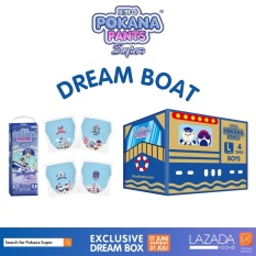 [DREAM BOAT BOX] Pokana Super Pants Boy L26 isi 4 + FREE matching sticker