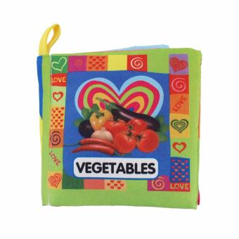 EELIC AYI-BU04 VEGETABLES BABY BOOK MAINAN BUKU BAYI KAIN