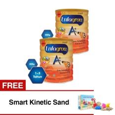 Enfagrow A+ 3 Susu Pertumbuhan - Vanila - 800 gr Tin isi 2 Kaleng + Gratis Smart Kinetic Sand