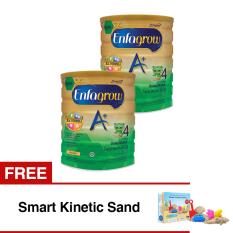 Enfagrow A+ 4 Susu Pertumbuhan - Madu - 800 gr Tin isi 2 Kaleng + Gratis Smart Kinetic Sand