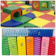 Evamat Polos / Matras / Tikar / Karpet / Puzzle Alas Lantai Evamat Ukuran 30 x 30 cm Orange