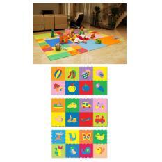 Evamats Polos / Matras /Tikar / Karpet / Puzzle Alas Lantai Evamat Motif Buah dan Sayur