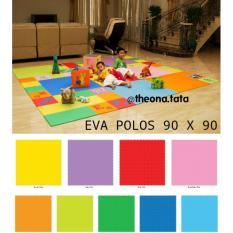 Evamats Polos / Matras /Tikar / Karpet / Puzzle Alas Lantai Evamat Ukuran 90 x 90 cm Biru Tua