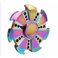 Stainless Steel Hand Fidget Spinner 6 Side Flower Mainan Putar Source Fidget Spinner .