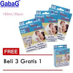 Gabag Kantong Asi Bpa Free 180 Ml Isi 30 Pcs (Beli 3 Gratis 1)
