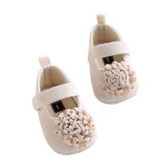 Gadis bayi pra walker alas lembut anti slip sepatu alas kaki sepatu bayi putri bunga besar