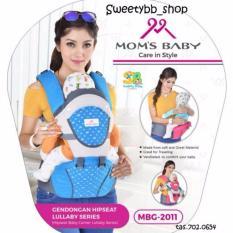Gendongan hipseat moms baby lillaby series - Biru
