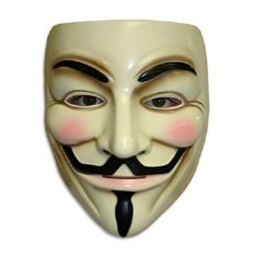 Guy Fawkes Maske for Vendetta Mask Occupy Anonymous Cosplay Karneva (Yellow) - intl
