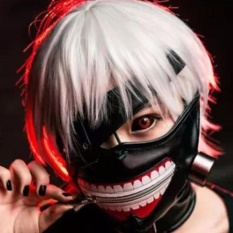 High Quality Clearance Tokyo Ghoul 2 Kaneki Ken Mask Adjustable Zipper Masks PU Leather Cool Mask - intl