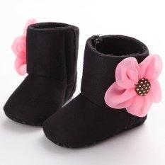 Hitam Boots Balita Bayi Baru Lahir-18 Bulan Bayi Laki-Laki Satu-Satunya Menyelinap Lembut Pada Gadis Kembang Sepatu S1585