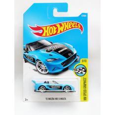 Hot Wheels '15 Mazda MX-5 Miata - biru