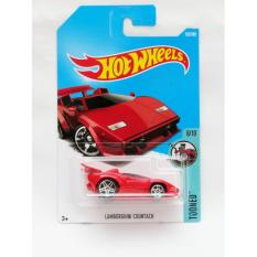 Hot Wheels Lamborghini Countach Tooned - merah