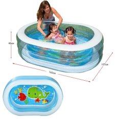 Intex 57482 Oval Whale Fun Swiming Pool / Kolam Renang anak Transparan