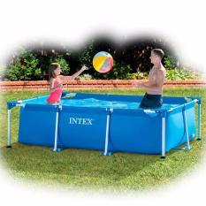 Intex Rectangular Frame Pool 220cm. Kolam Renang Keluarga Tanpa Angin 28270