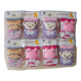 Jelova Angela 2Pasang Sarung Kaki Baby Bayi WINTEKU 0-6 Months - for GIRLS