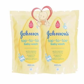 Johnson's Baby Top To Toe Wash Refill 400ml - 2 Pack