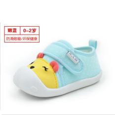 Katun anak laki-laki dan perempuan bayi balita sepatu bayi yang lembut sepatu bersol