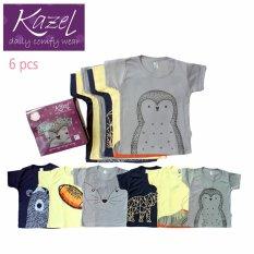 Kazel Tshirt Penguin Edition isi 6 pcs - Newborn