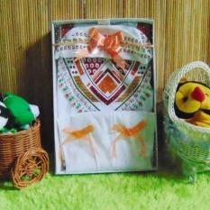kembarshop - Paket Kado Koko Bayi Putih Sablon Plus Peci