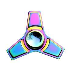 Kokakaa Fidget Hand Spinner Premium Rainbow Chrome 3 Segi Anti-Stress Toy Adhd Autism Therapy