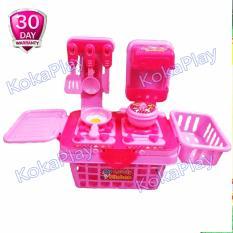 KokaPlay Lovely Kitchen Set Keranjang Pinky Mainan Masak Masakan Dapur Anak