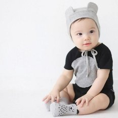 LALANG Infant Baby Boys Girls Cotton Cartoon Socks (Grey) - intl