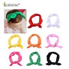 Leegoal 8 x bayi perempuan elastis bando kepala Sorban membungkus rambut telinga kelinci Band