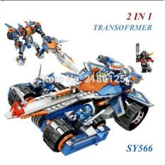 Lego Nexo Knight SY 566 SY566 Nick Knight Clays Rumble Blade 2in1
