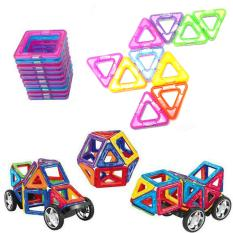 Magnetic Building Blocks Toy Set 32 + Pieces 3D Educational Magnet Building Construction Kit For Kids Over 3 Years Old Preschool Stacking Toy - Intl