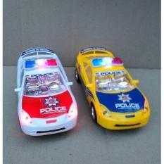 Mainan Mobil Polisi Baterai - mainan mobil polisi berjalan nyala lampu - City Police Car Baterai