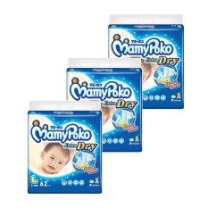 Mamypoko Popok Tape Extra Dry L 62 - Karton Isi 3