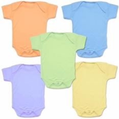 Miabelle Bodysuit Set Pastel Color Boy - 5 Buah