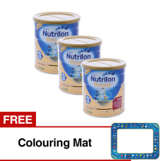 Nutrilon Royal Pronutra Soya 3 - Rasa Vanila - 700 gr - Bundle 3 Kaleng + FREE Colouring Mat