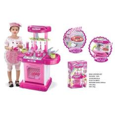 Onlan Mainan Dapur Anak - Kitchen Set Koper - Pink