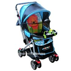 Pliko Creative Classic Baby Stroller BS-218 Lightweight - Kereta Dorong Bayi - Blue