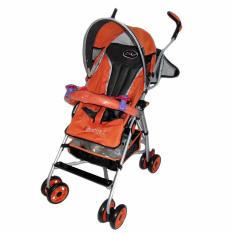 Pliko Stroller New Buggy Adventure 2 S-108 - Kereta Dorong Bayi - Orange
