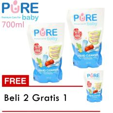 Pure Baby Liquid Cleanser Refill 700 Ml (Beli 2 Gratis 1)