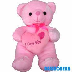 Raja Boneka Boneka Beruang Teddy Bear Love - Pink