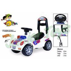 Ride On Mobil Polisi + Dorongan