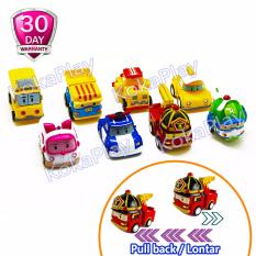 Robocar Poli Pull Back Car Set 8 in 1 Mainan Mobil Lontar Roy Amber Helly