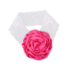 Rose Red Rose Flower Baby Girls Headband Photography Props Hair Band
