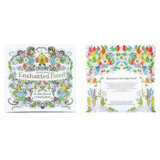 Secret Garden Anti Stress Coloring Painting Book For Kid Adult Enchanted Forest