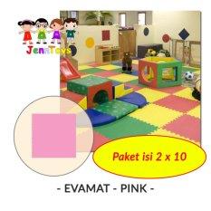 SET (1 pack isi 2 x 10) Evamat - Polos / Matras / Tikar / Karpet / Puzzle Alas Lantai Evamat - Pink