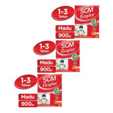SGM Eksplor Presinutri 1+ Susu Pertumbuhan - Madu - 900gr - Bundle isi 3 Box