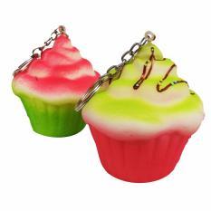 Simply Chic Squishy Gantungan Kunci Kue Bolu Kukus ( Squishy Simulation Cake Slow Rising Squishy Fun
