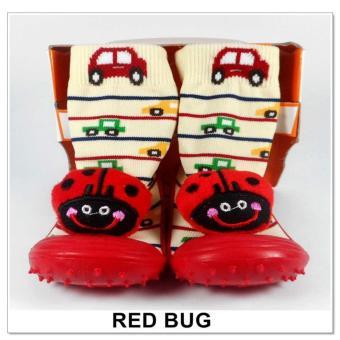 Skidder Sepatu Bayi Motif Red Bug Uk.21