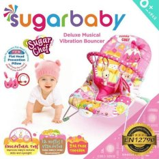 Sugar Baby Sugar Chef Deluxe Musical Vibration Bouncer - Ayunan Bayi (Pink)