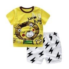 Summer Baby Boy Girl Clothing Sets Short Top + Pants 2pcs/set Cartoon Sport Suit Baby Clothing Set Newborn Infant Clothing - Lion - intl